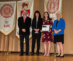 student presented with honors award