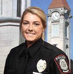 IUPD officer portrait of Rikki Foust