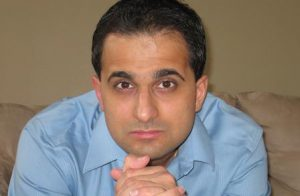 close up portrait of Amit Majmudar