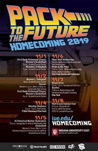 Homecoming 2019 poster with events and information