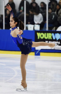 female figure skating during competition