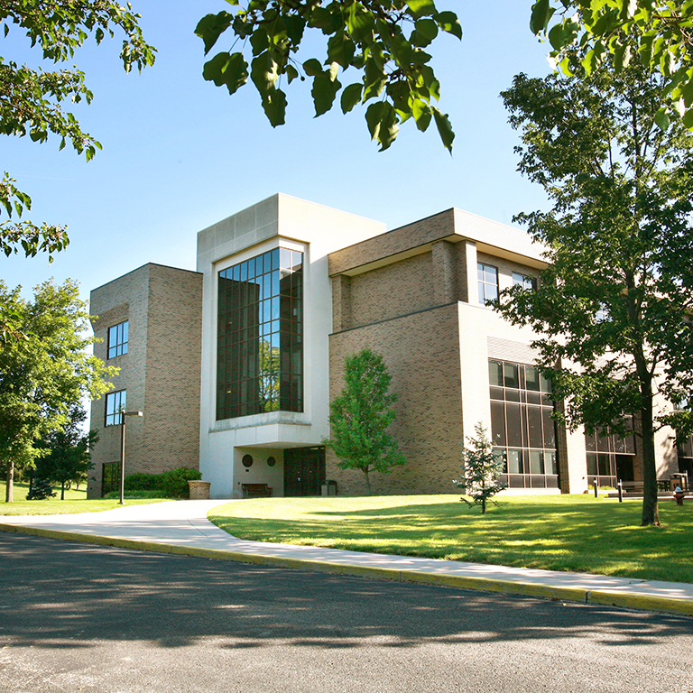 photo from the front side of Tom Raper Hall building