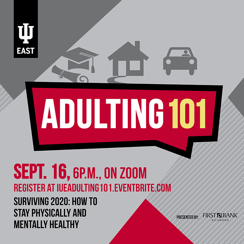 promo advertisement for Adulting 101 event