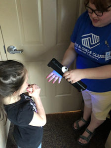 The Boys and Girls Club of Wayne County has used the Glitter Bug units to educate and improve children's understanding of handwashing. The unit is provided by the IU East School of Business and Economics.