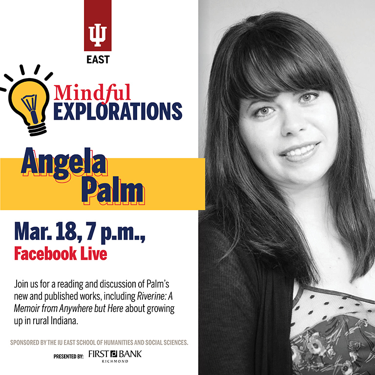 Mindful Explorations Facebook Live event image with Angela Palm