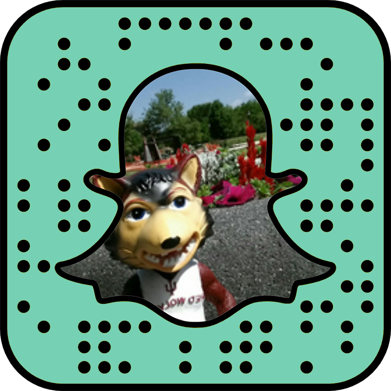 Snapchat snapcode for IU East.